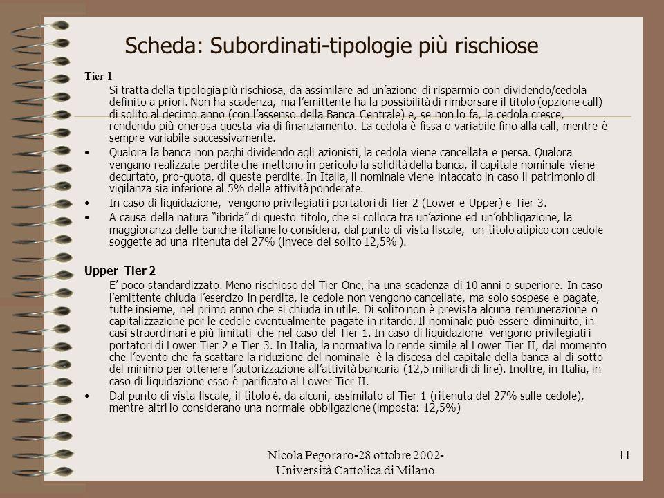 Scheda: Subordinati-tipologie più rischiose
