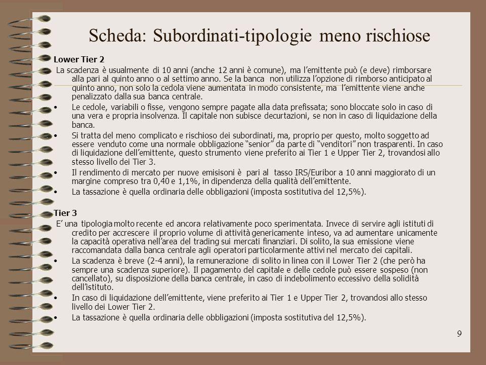 Scheda: Subordinati-tipologie meno rischiose