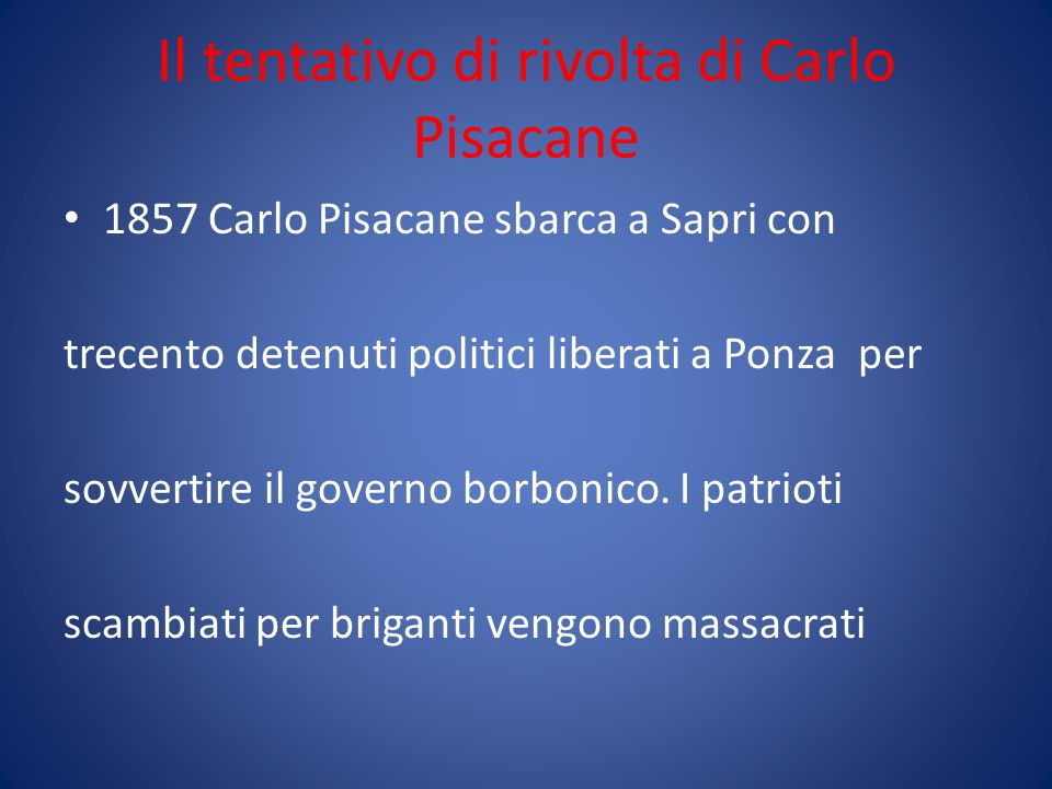 Il tentativo di rivolta di Carlo Pisacane