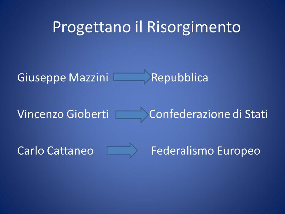 Progettano il Risorgimento