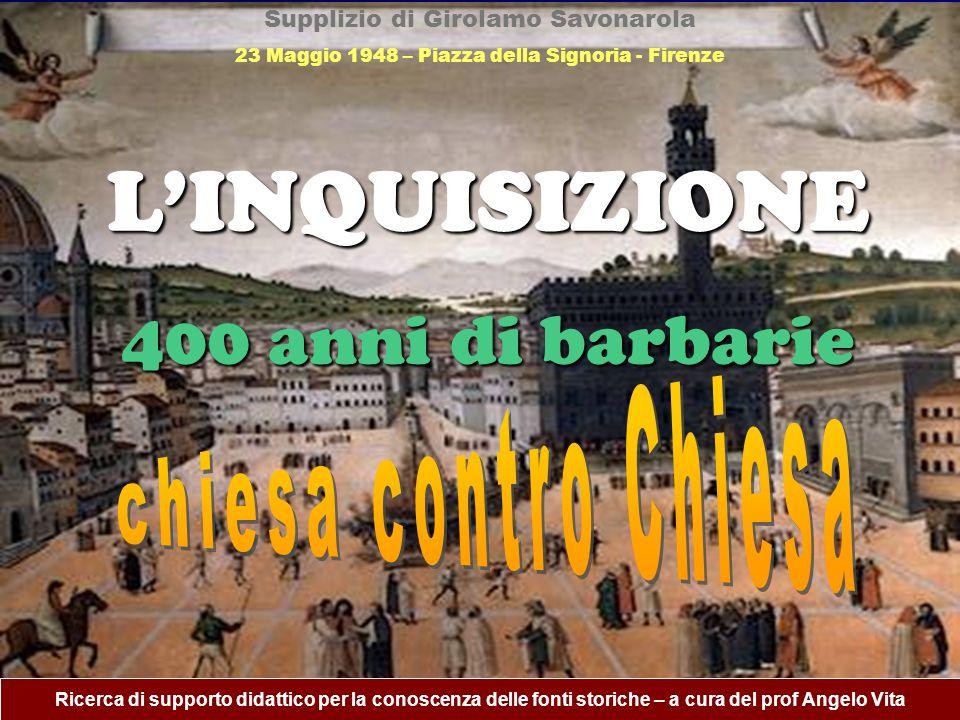 Supplizio di Girolamo Savonarola