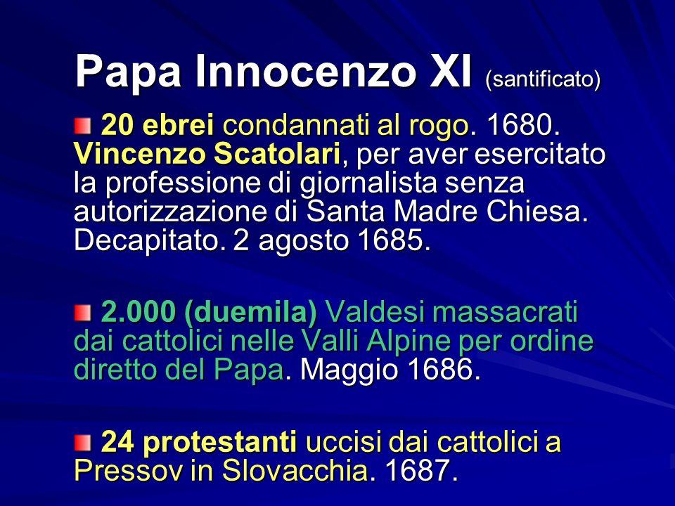 Papa Innocenzo XI (santificato)