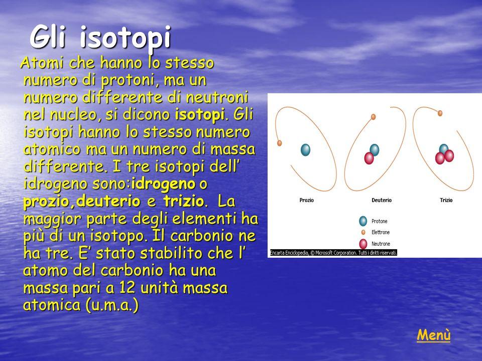 Gli isotopi