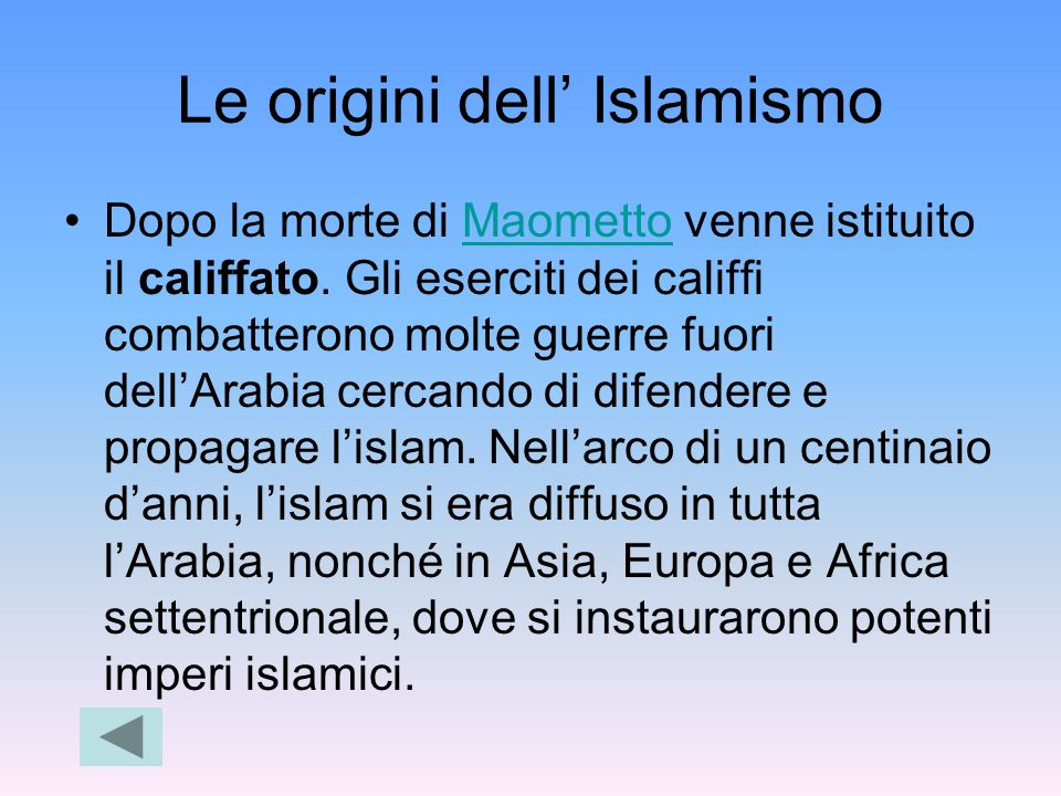 Le origini dell' Islamismo