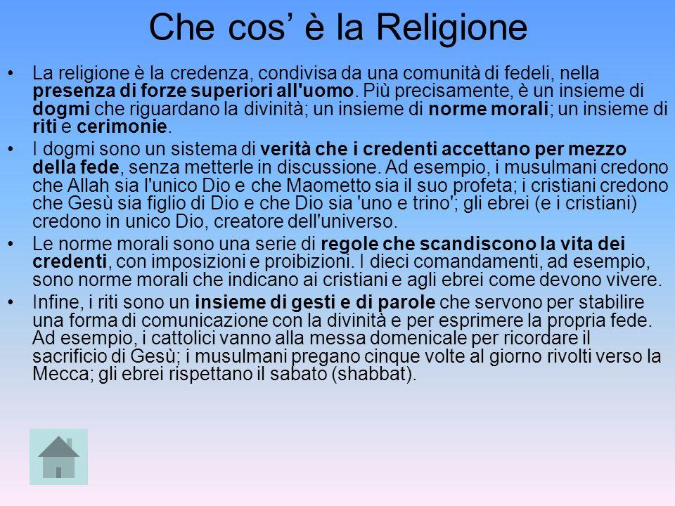 Che cos' è la Religione