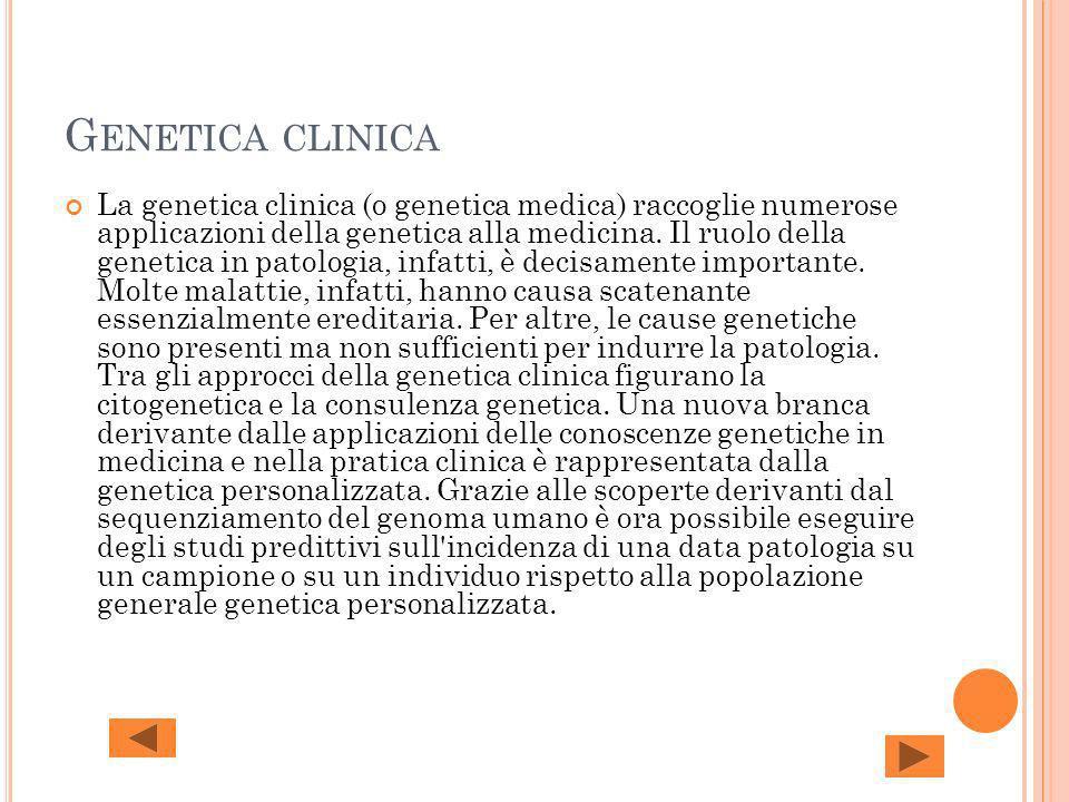 Genetica clinica