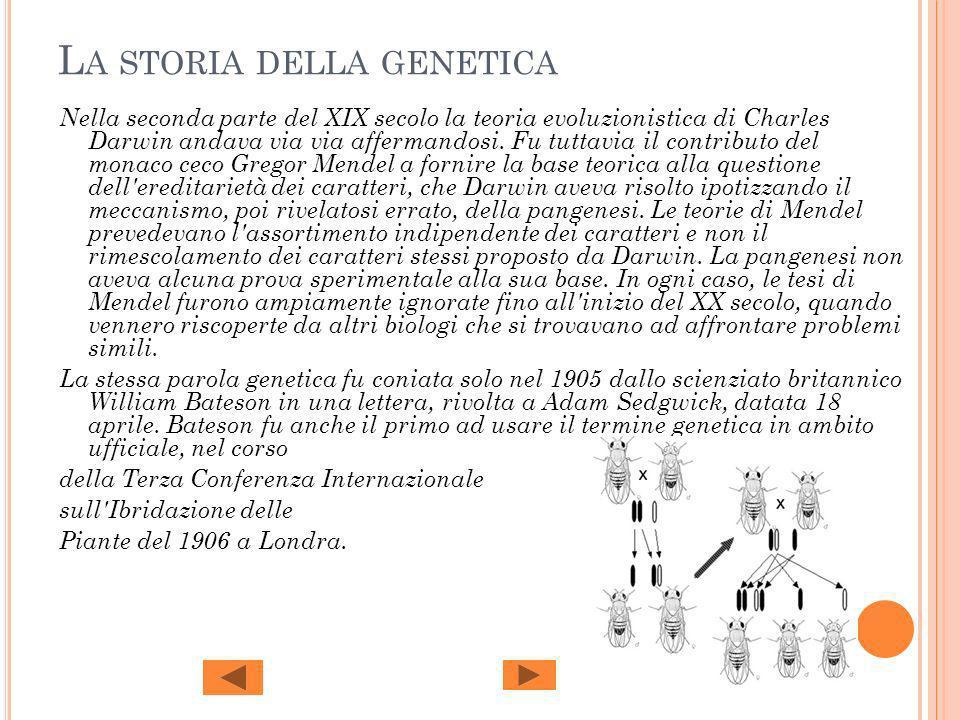 La storia della genetica