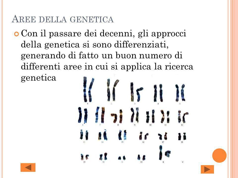 Aree della genetica