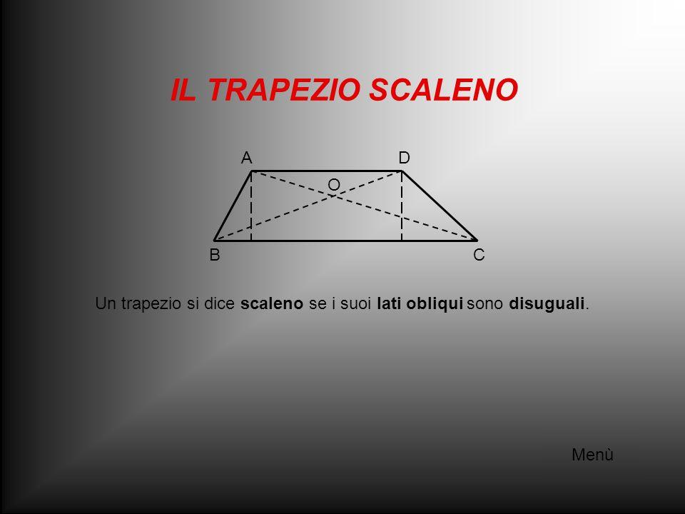 Un trapezio si dice scaleno se i suoi lati obliqui sono disuguali.