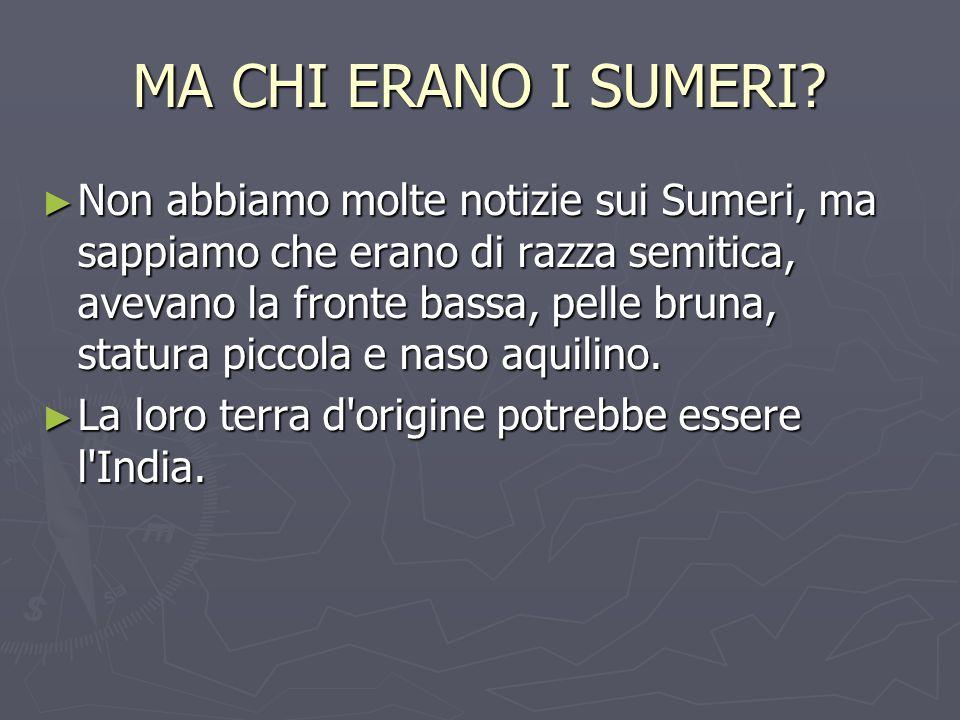 MA CHI ERANO I SUMERI