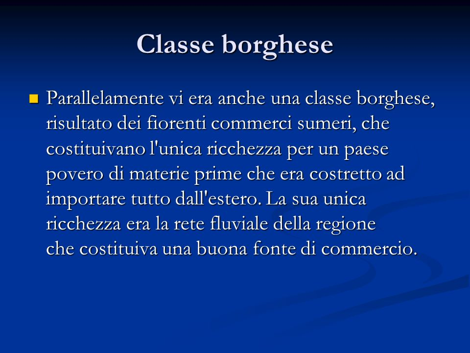 Classe borghese