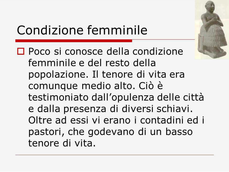 Condizione femminile.