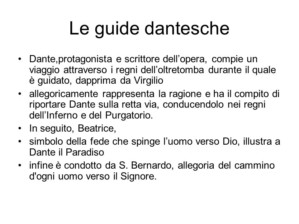 Le guide dantesche