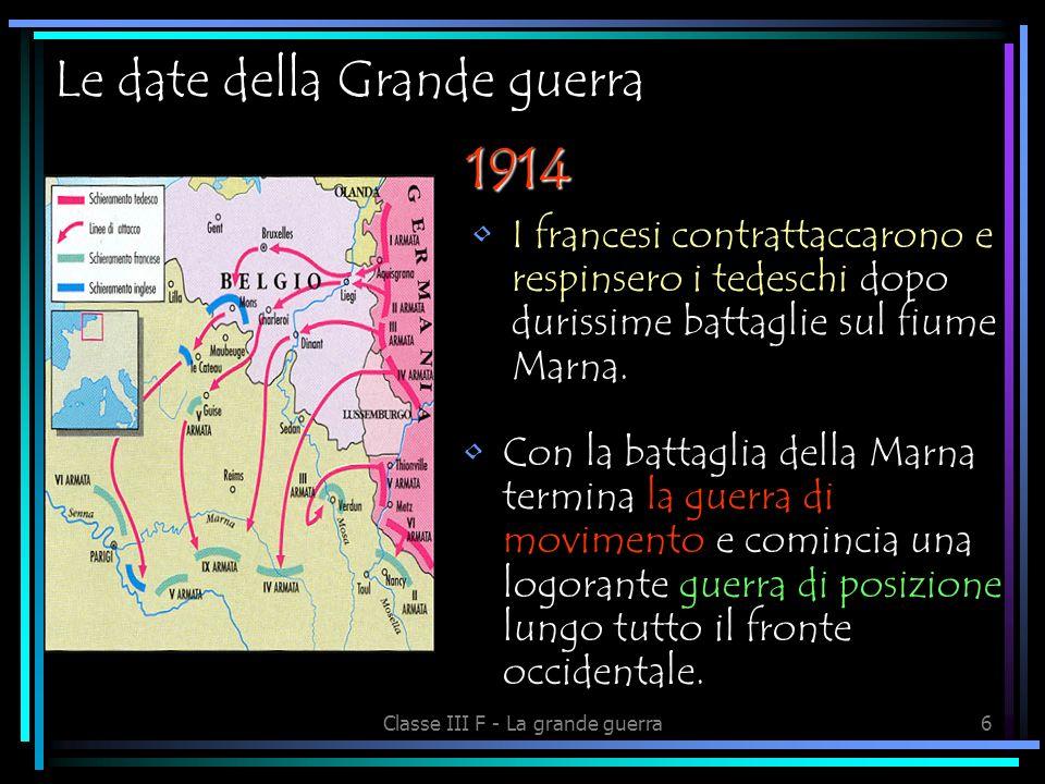 Le date della Grande guerra