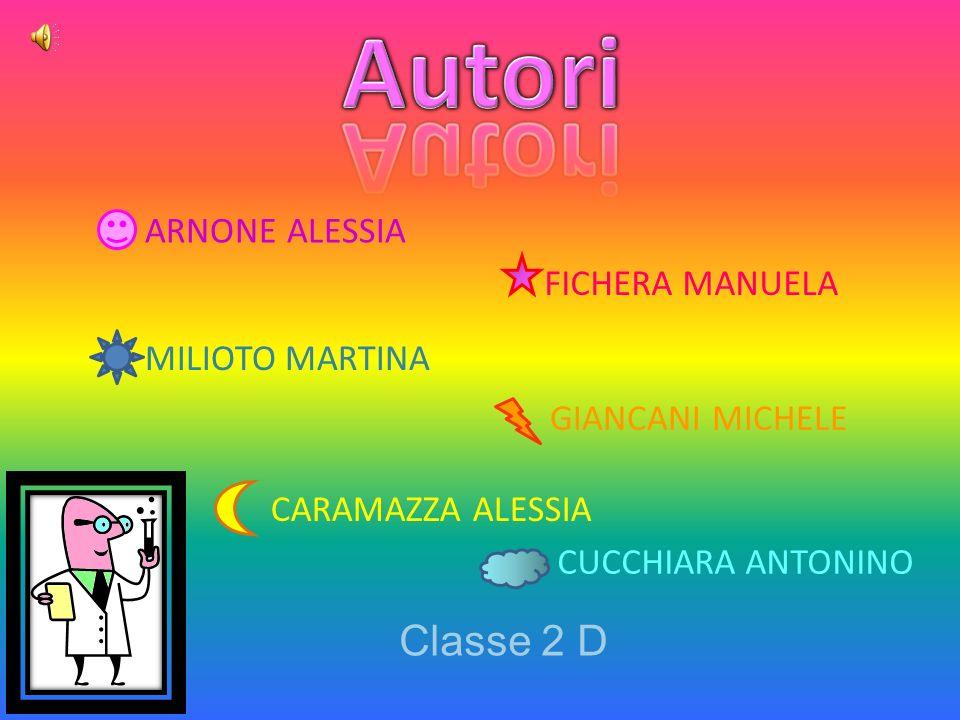 Autori Classe 2 D ARNONE ALESSIA FICHERA MANUELA MILIOTO MARTINA