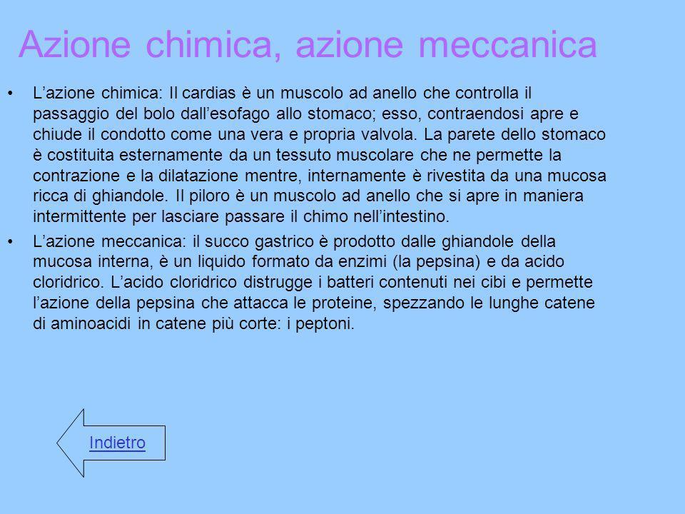 Azione chimica, azione meccanica