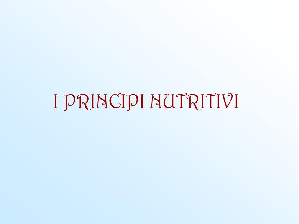 I PRINCIPI NUTRITIVI