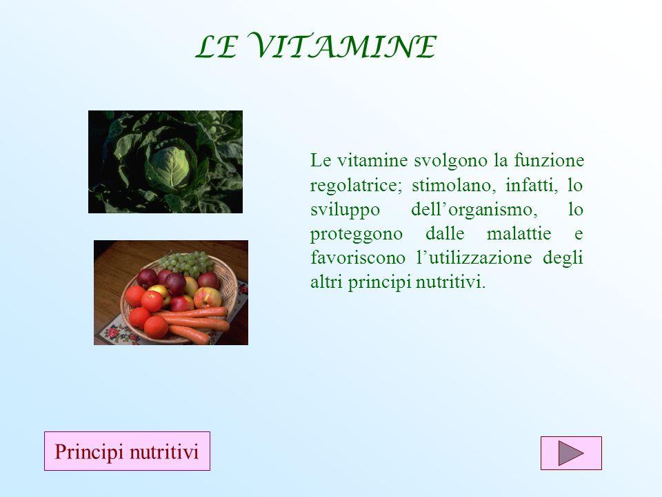 LE VITAMINE Principi nutritivi
