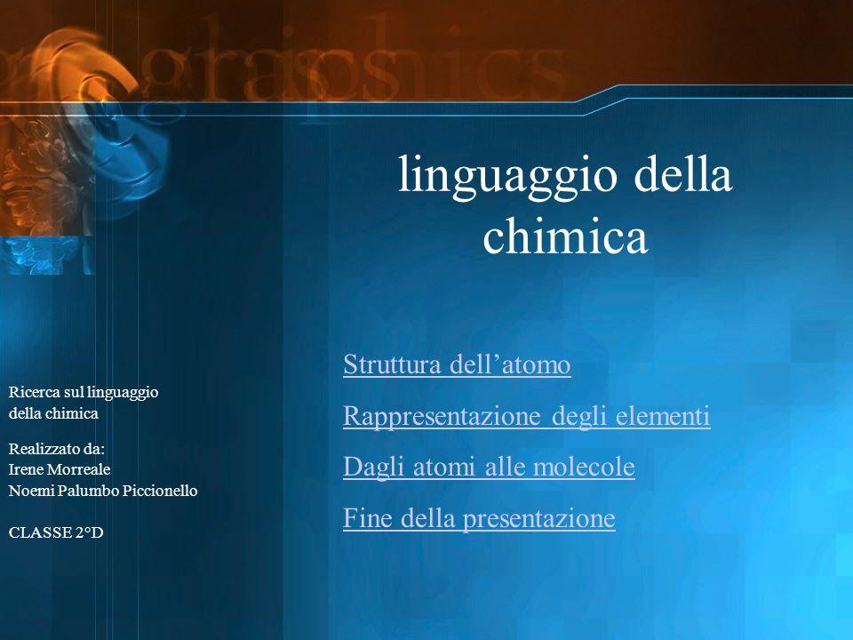 linguaggio della chimica