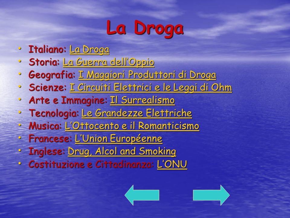 La Droga Italiano: La Droga Storia: La Guerra dell'Oppio