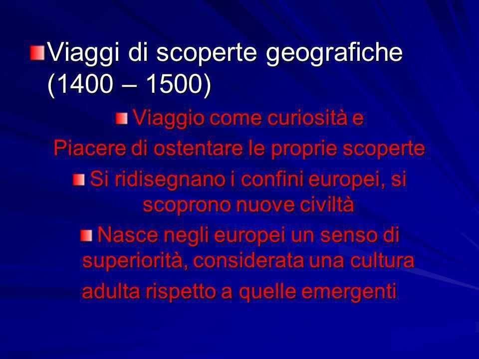 Viaggi di scoperte geografiche (1400 – 1500)