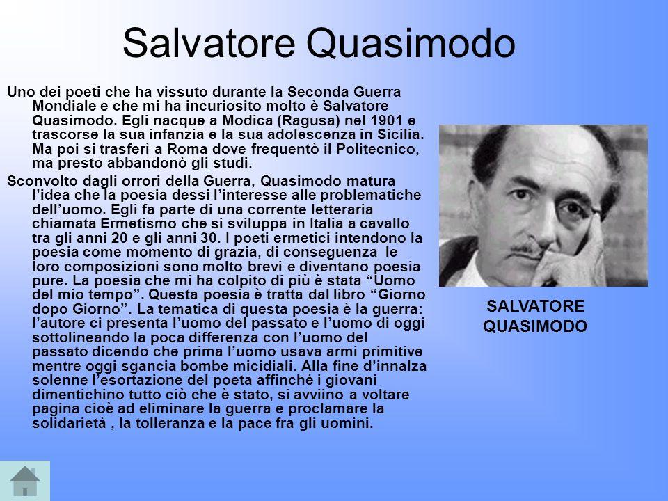Salvatore Quasimodo SALVATORE QUASIMODO