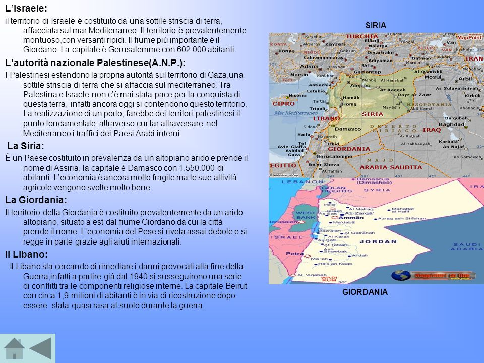 L'autorità nazionale Palestinese(A.N.P.):