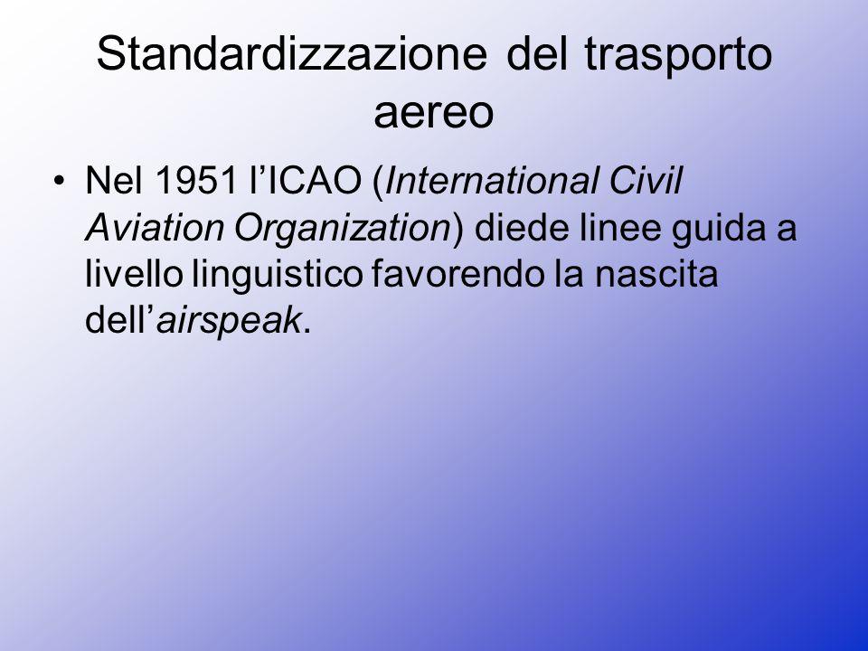 Standardizzazione del trasporto aereo
