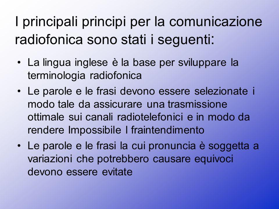 I principali principi per la comunicazione radiofonica sono stati i seguenti: