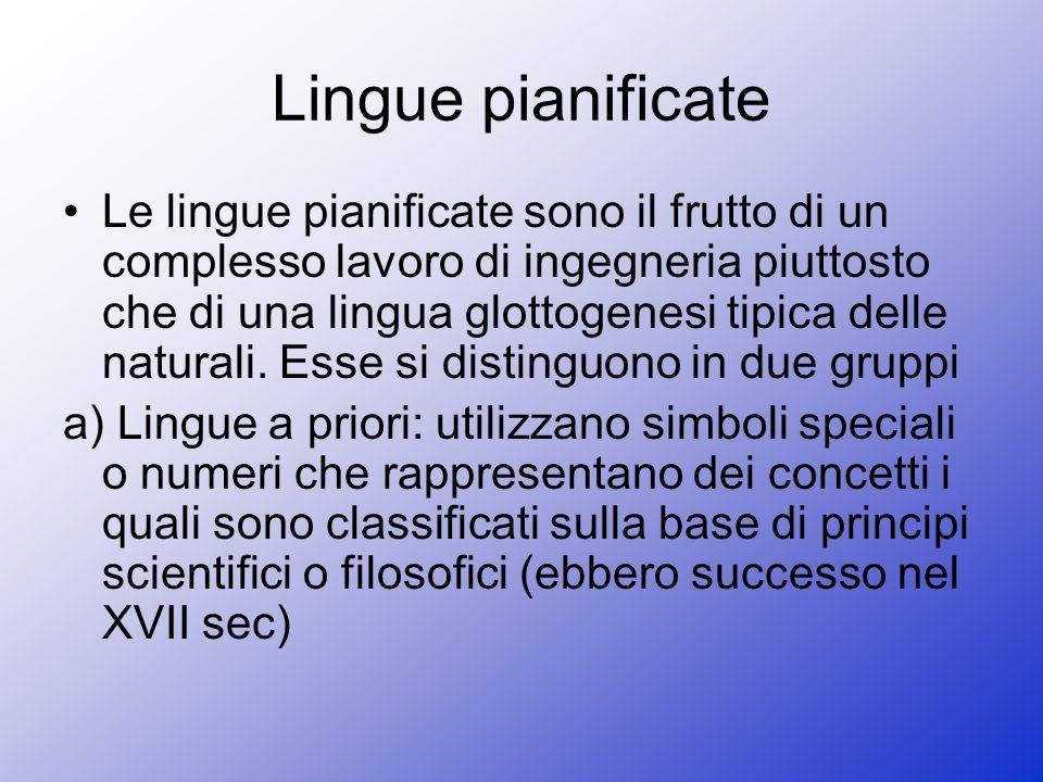 Lingue pianificate