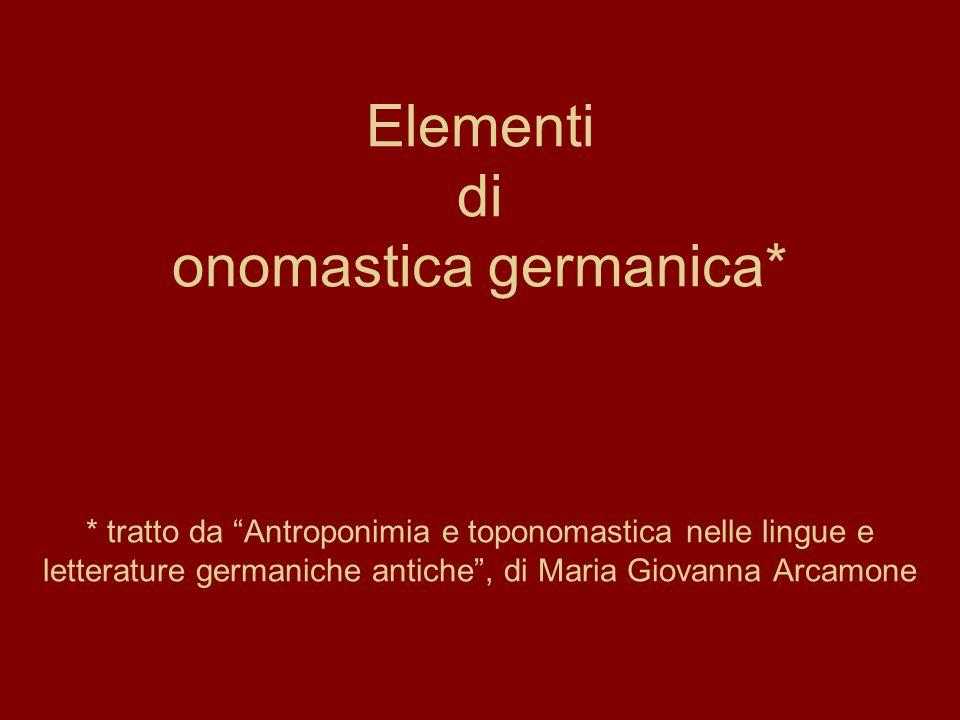 Elementi di onomastica germanica