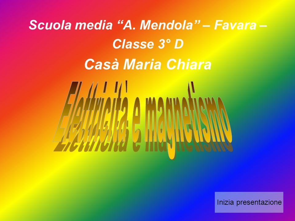 Scuola media A. Mendola – Favara – Classe 3° D Casà Maria Chiara