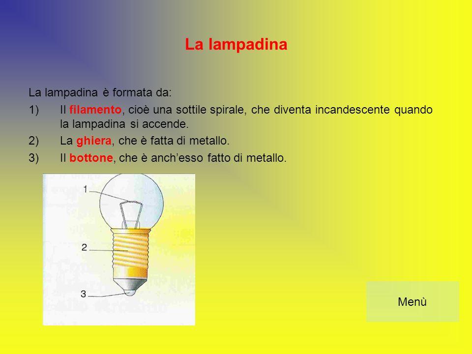 La lampadina La lampadina è formata da: