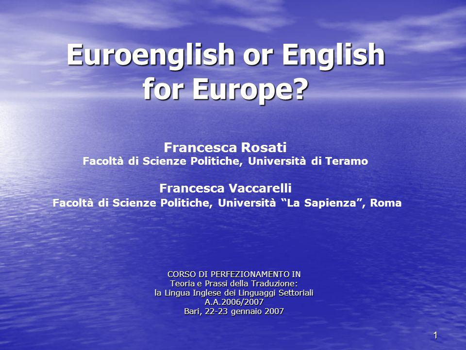 Euroenglish or English for Europe