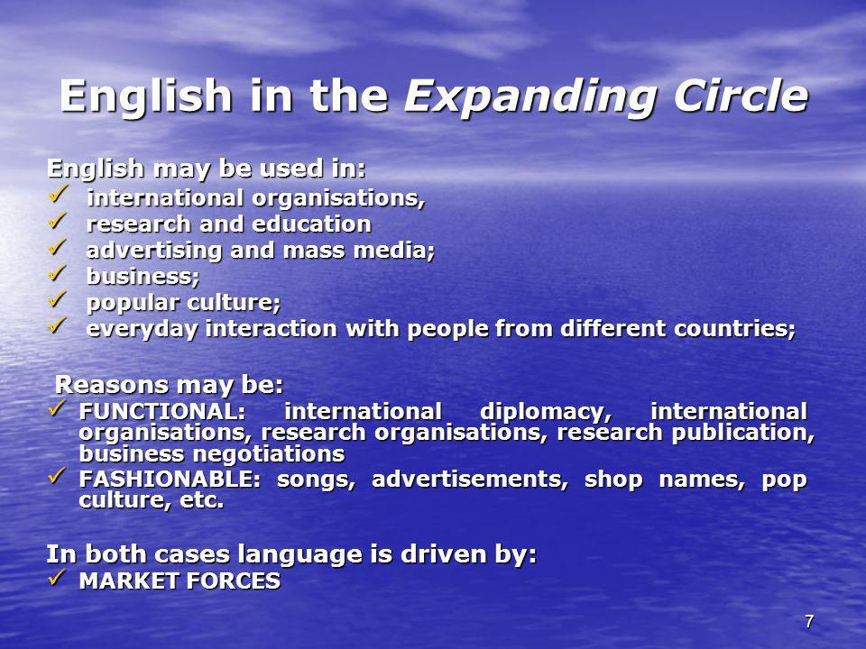English in the Expanding Circle