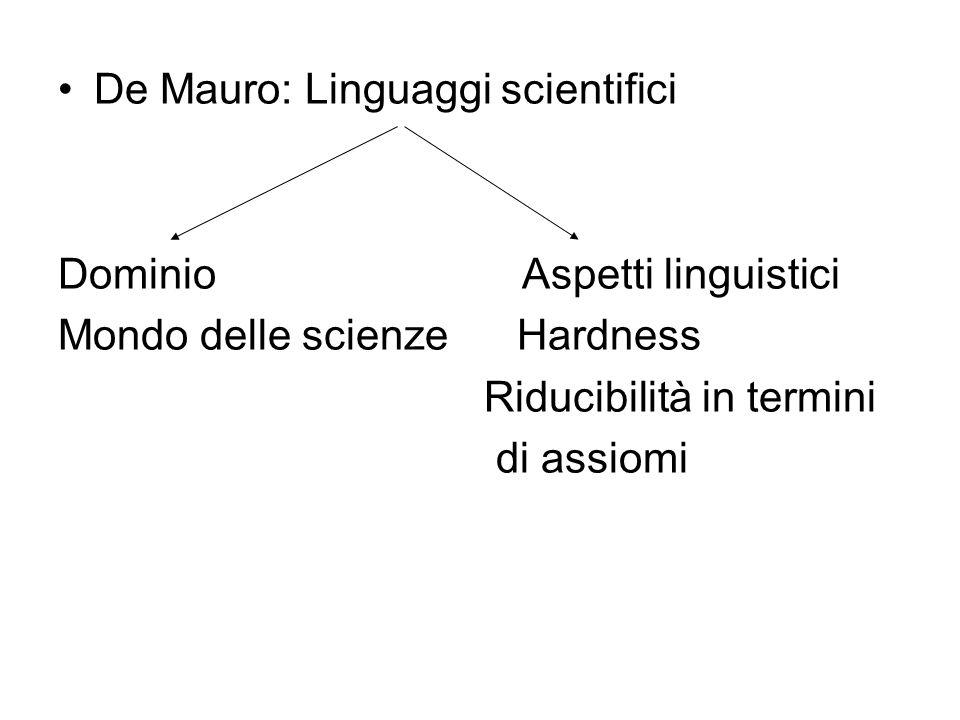 De Mauro: Linguaggi scientifici