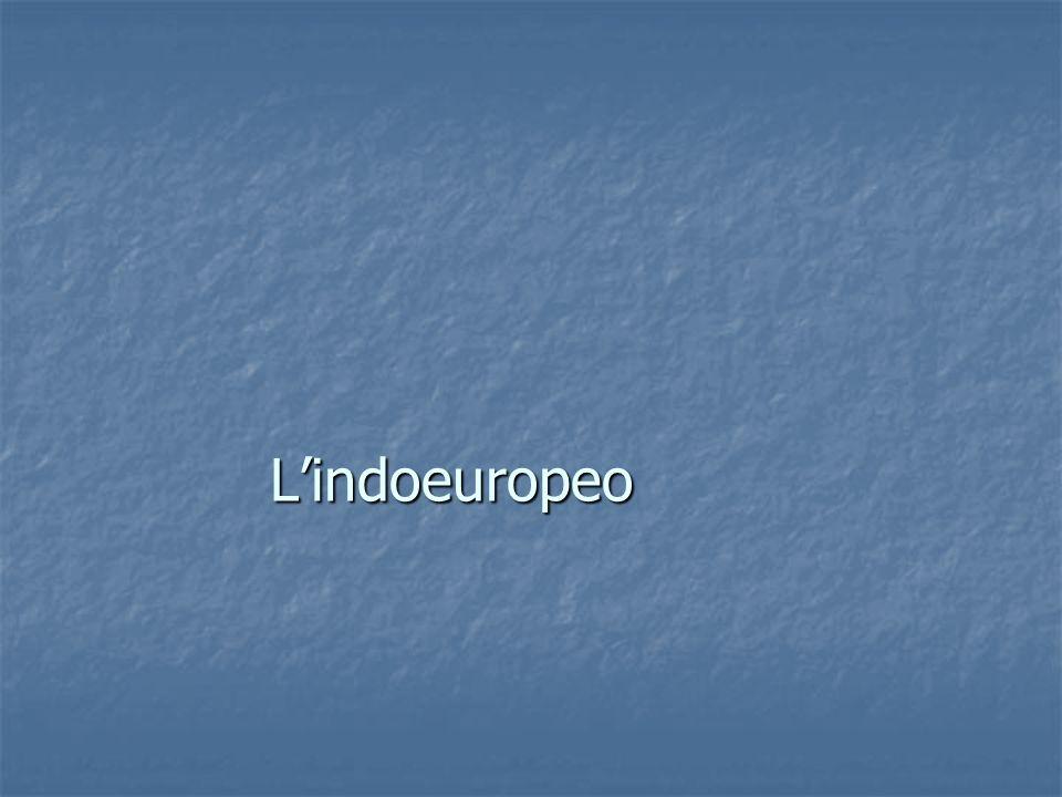 L'indoeuropeo