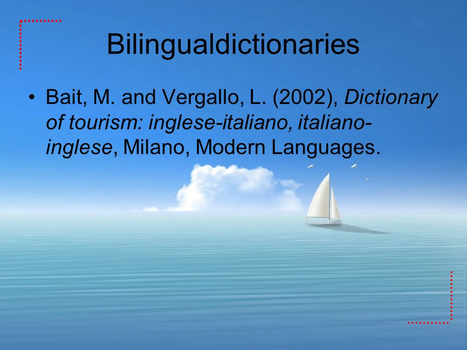 Bilingualdictionaries