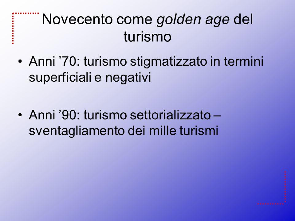 Novecento come golden age del turismo