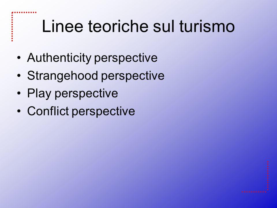 Linee teoriche sul turismo