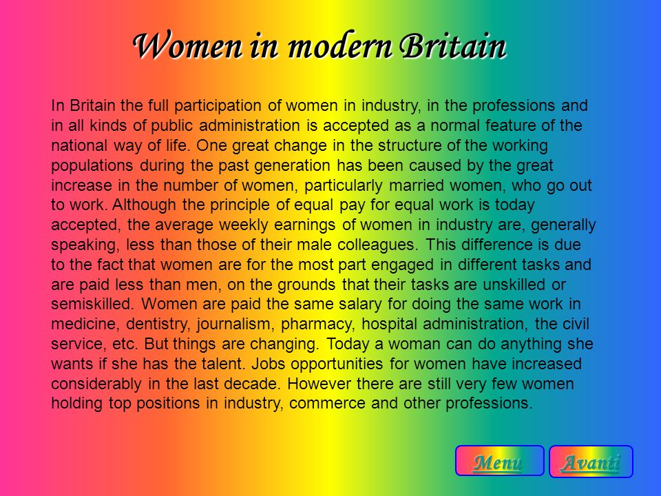 Women in modern Britain
