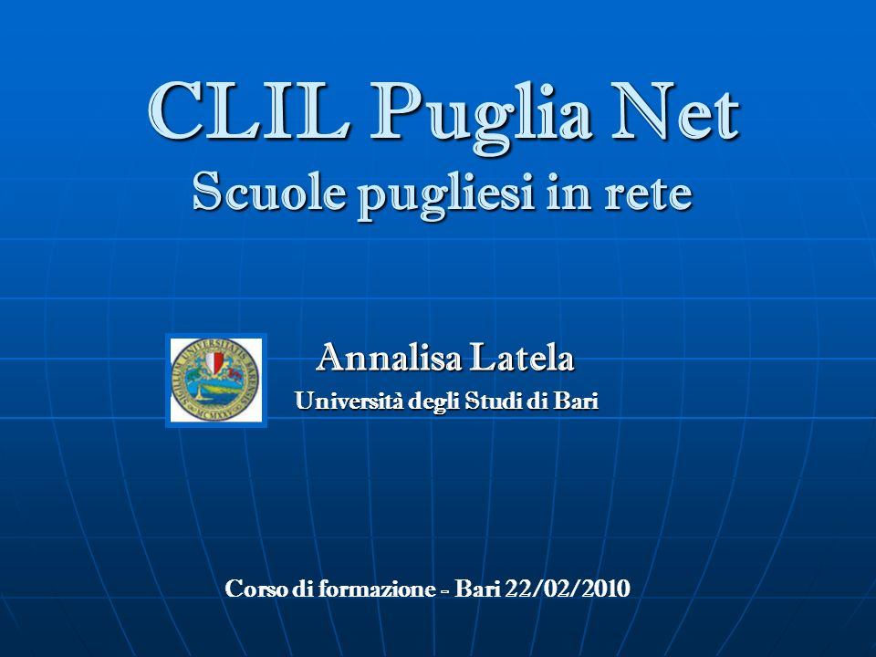 CLIL Puglia Net Scuole pugliesi in rete