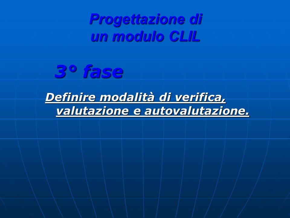 Progettazione di un modulo CLIL