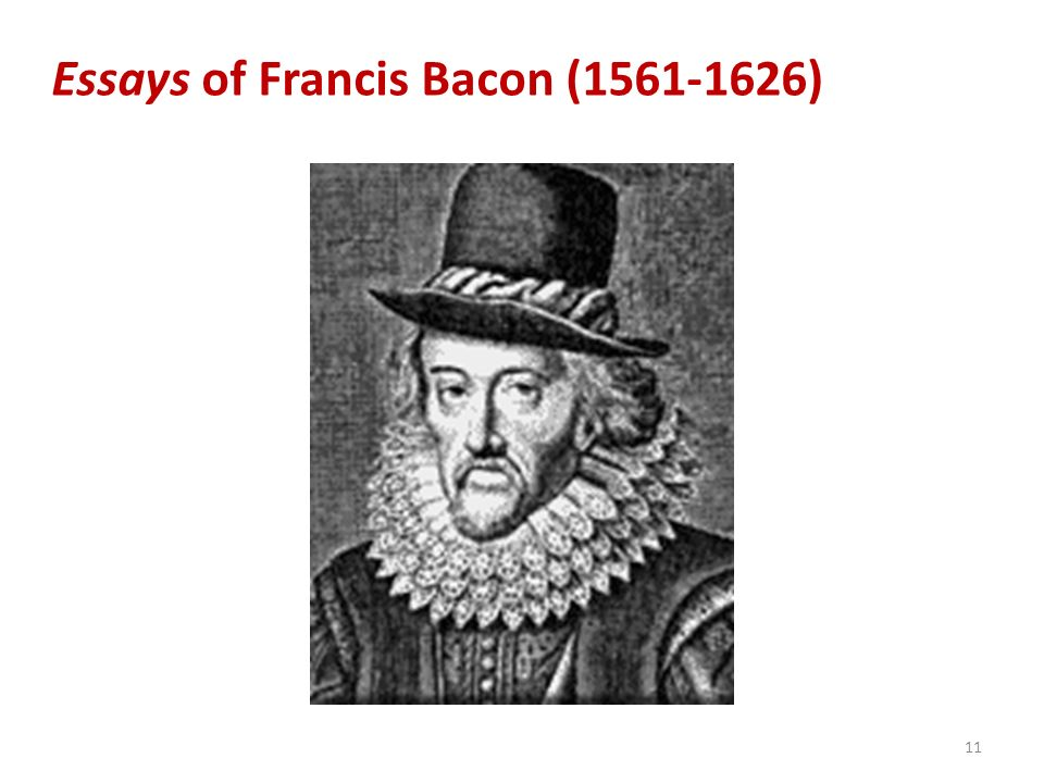 Essays of Francis Bacon (1561-1626)