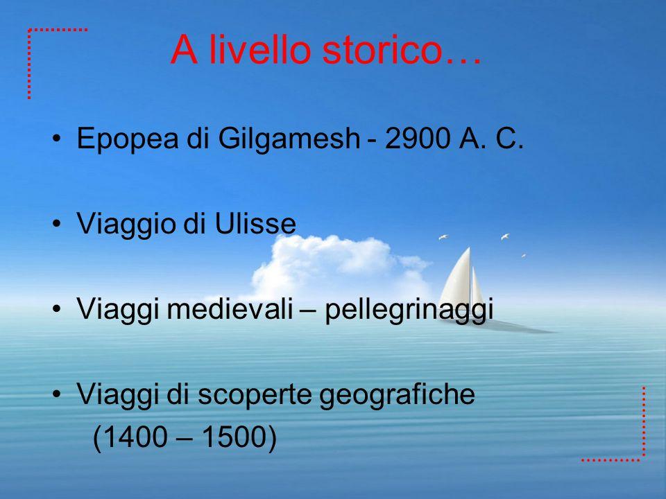 A livello storico… Epopea di Gilgamesh - 2900 A. C. Viaggio di Ulisse