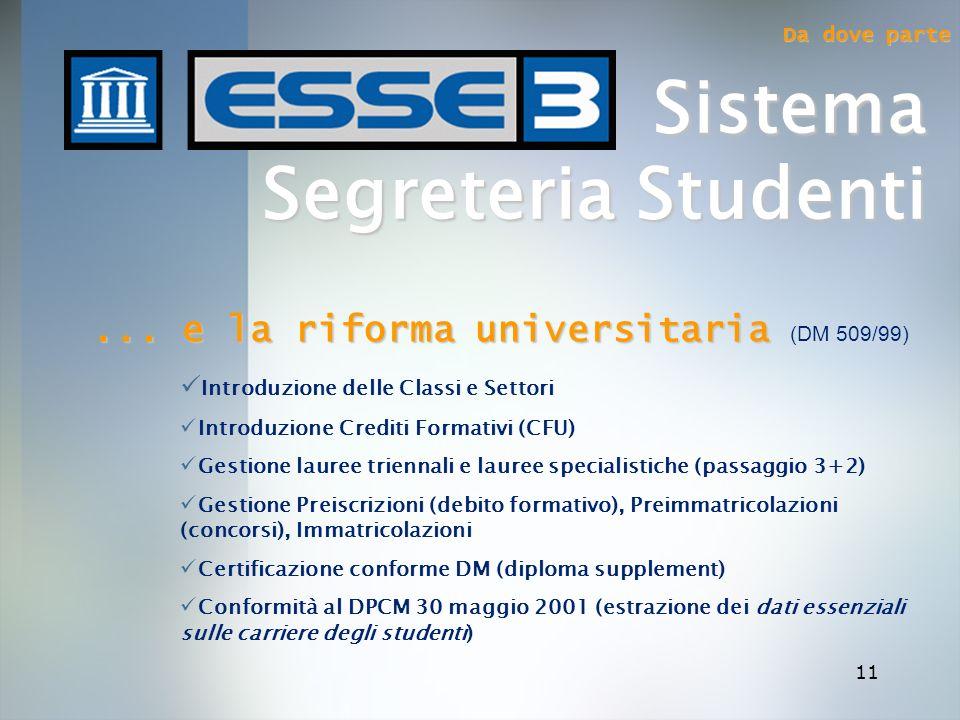 ... e la riforma universitaria (DM 509/99)