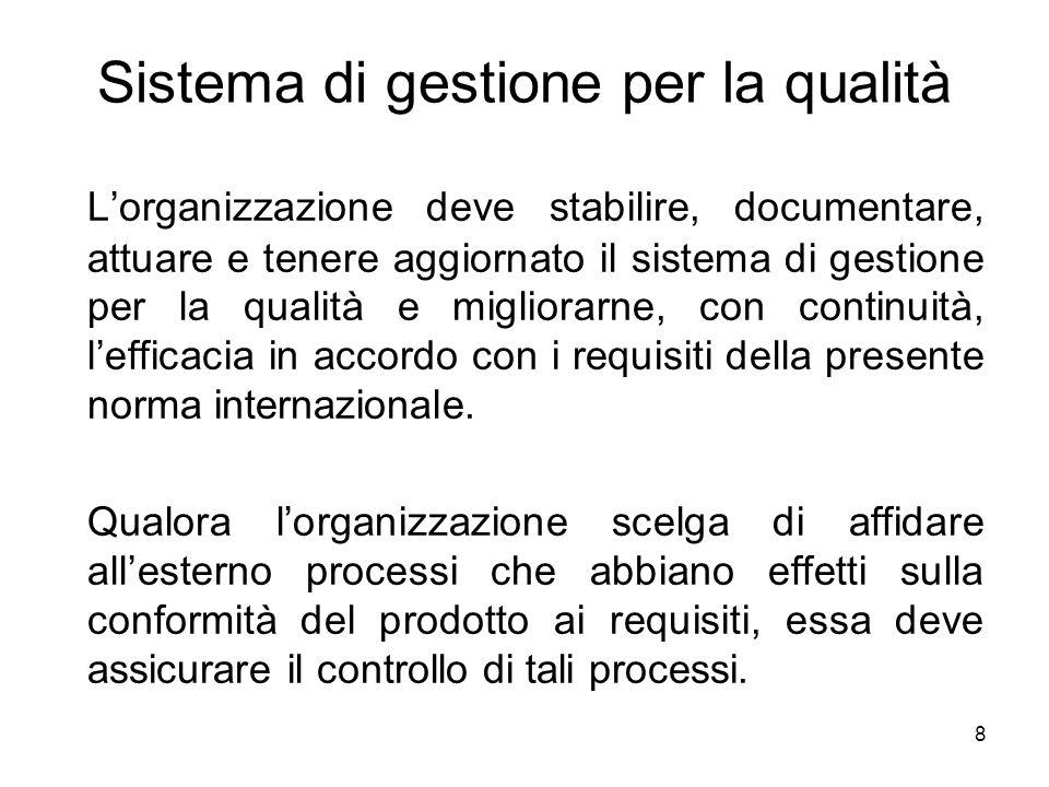 Sistema di gestione per la qualità