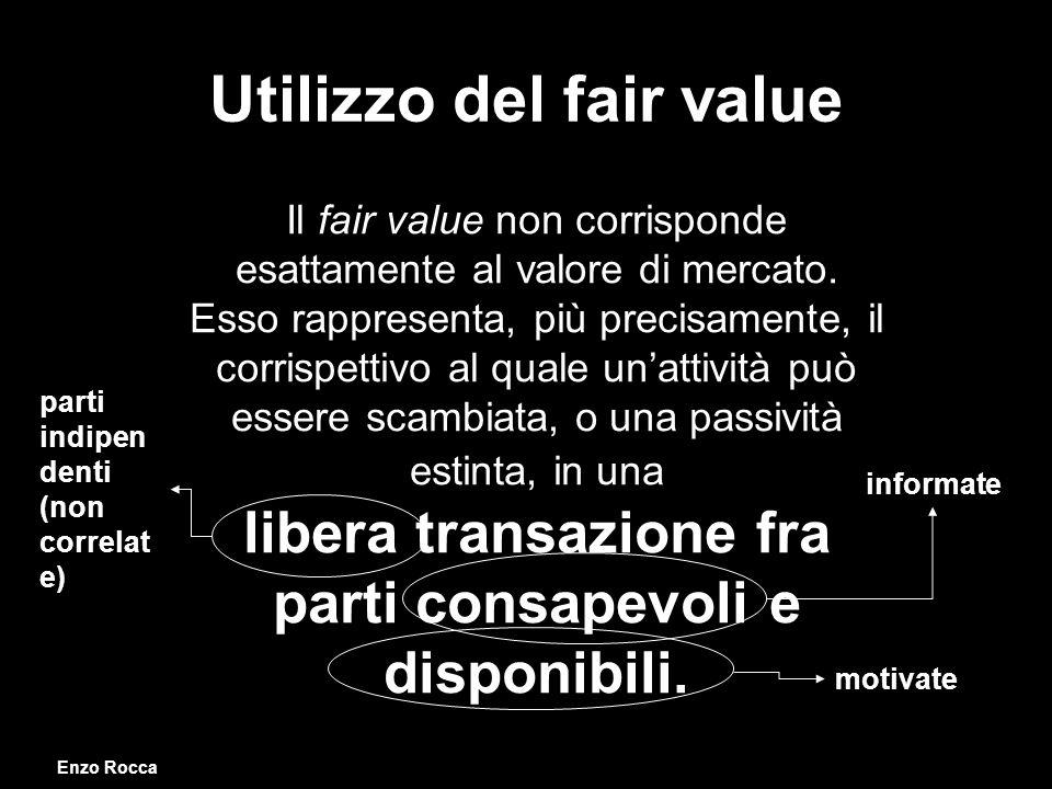Utilizzo del fair value