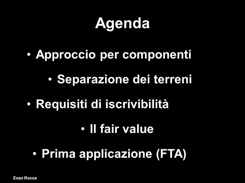 Agenda Approccio per componenti Separazione dei terreni