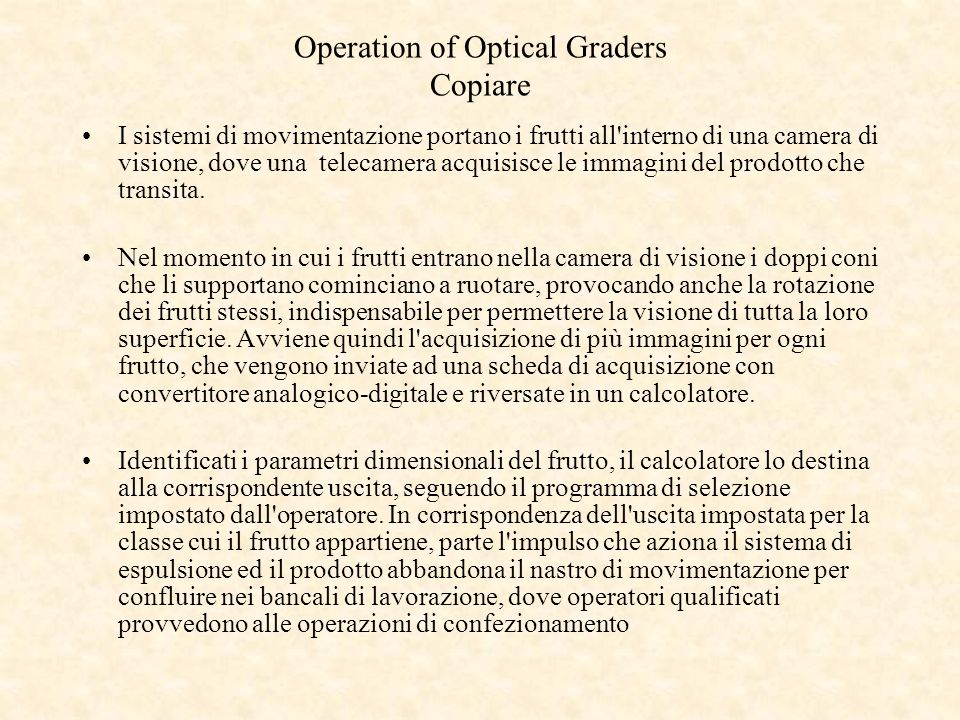 Operation of Optical Graders Copiare